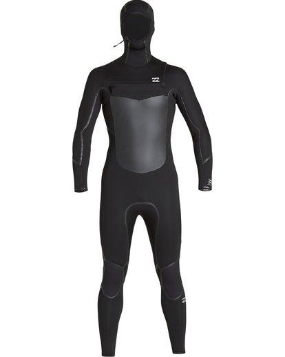 0 5/4mm Furnace Abs X Hd - Chest Zip Hood Neoprenanzug für Männer Schwarz Q45M08BIF9 Billabong