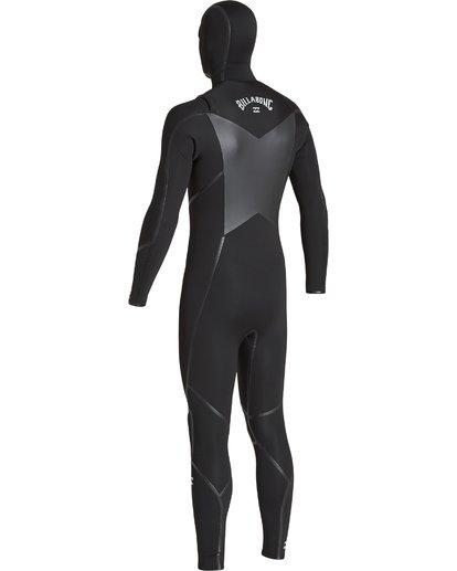 5 5/4mm Furnace Abs X Hd - Chest Zip Hood Neoprenanzug für Männer Schwarz Q45M08BIF9 Billabong