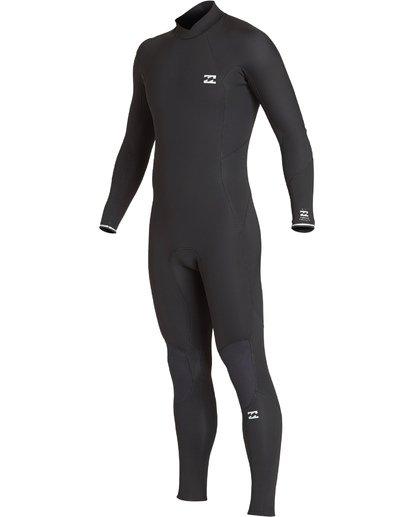 12 5/4mm Furnace Absolute GBS - Back Zip Langärmeliger Fullsuit Neoprenanzug für Männer Schwarz Q45M10BIF9 Billabong