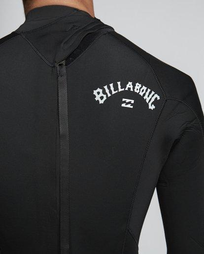 8 5/4mm Furnace Absolute GBS - Back Zip Langärmeliger Fullsuit Neoprenanzug für Männer Schwarz Q45M10BIF9 Billabong