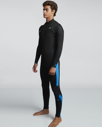 3 5/4mm Furnace Absolute GBS - Back Zip Langärmeliger Fullsuit Neoprenanzug für Männer Blau Q45M10BIF9 Billabong