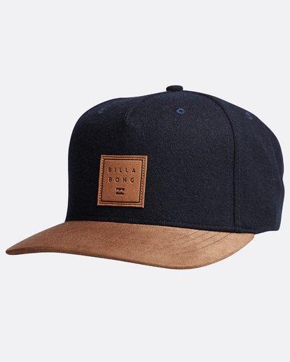 3 Stacked Up - Snapback Cap für Männer Blau Q5CM02BIF9 Billabong