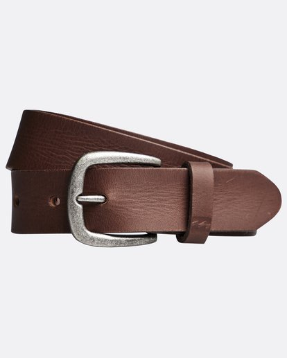 0 All Day - Leather Belt for Men Brown Q5LB02BIF9 Billabong