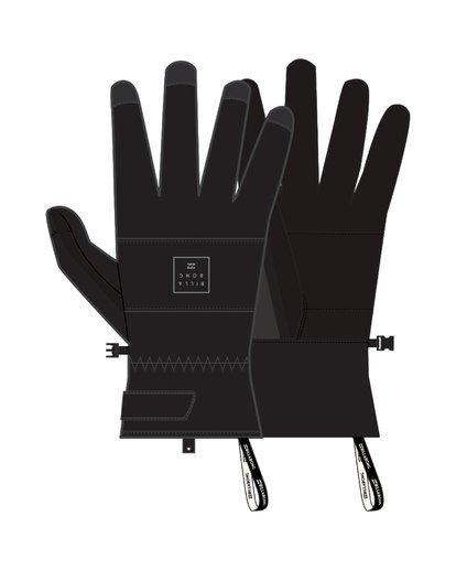 2 Kera - Snow Gloves for Men Black Q6GL02BIF9 Billabong