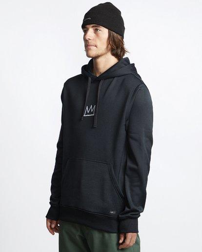 2 Basquiat - Thermo-Fleece Kapuze für Männer Schwarz Q6HO01BIF9 Billabong