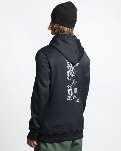 3 Basquiat - Thermo-Fleece Kapuze für Männer Schwarz Q6HO01BIF9 Billabong