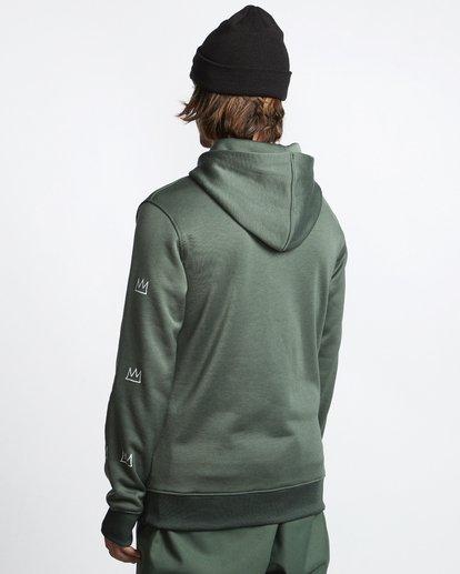3 Basquiat - Thermo-Fleece Kapuze für Männer Grün Q6HO01BIF9 Billabong