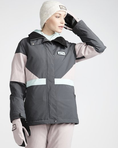 1 Say What - Snow Jacket for Women Grey Q6JF03BIF9 Billabong