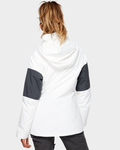 3 Say What 2L 10K Jacket White Q6JF03S Billabong