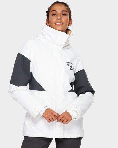 1 Say What 2L 10K Jacket White Q6JF03S Billabong