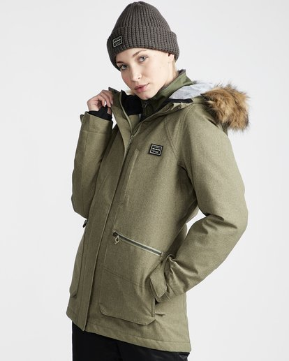 1 Into The Forest - Chaqueta para Nieve para Mujer Verde Q6JF08BIF9 Billabong