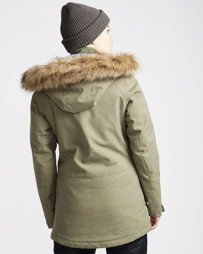 2 Into The Forest - Snow Jacket for Women Green Q6JF08BIF9 Billabong