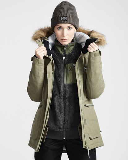 3 Into The Forest - Snow Jacket for Women Green Q6JF08BIF9 Billabong