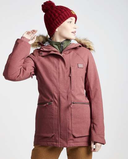 0 Into The Forest - Snow Jacket for Women Purple Q6JF08BIF9 Billabong