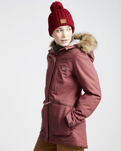 1 Into The Forest - Ski- und Snowboardjacke für Frauen Violett Q6JF08BIF9 Billabong