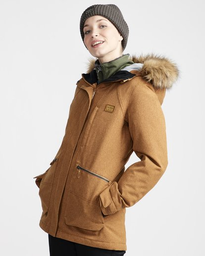 1 Into The Forest - Chaqueta para Nieve para Mujer Amarillo Q6JF08BIF9 Billabong