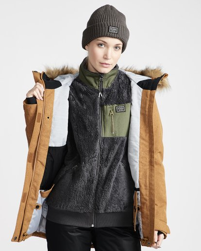 3 Into The Forest - Chaqueta para Nieve para Mujer Amarillo Q6JF08BIF9 Billabong