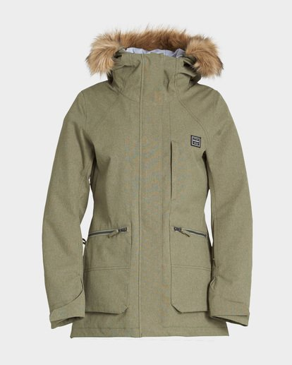 4 Into The Forest 2L 10K Jacket Green Q6JF08S Billabong