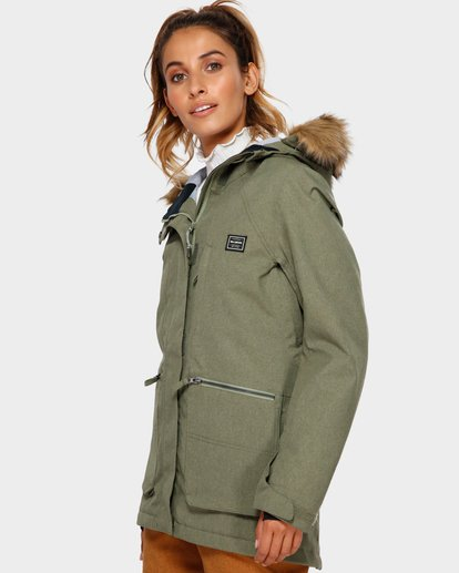 1 Into The Forest 2L 10K Jacket Green Q6JF08S Billabong