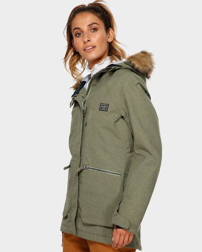 2 Into The Forest 2L 10K Jacket Green Q6JF08S Billabong