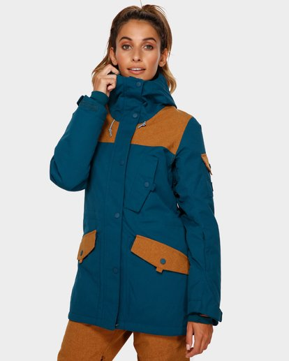 2 Scenic Route 2L 10K Jacket Blue Q6JF10S Billabong