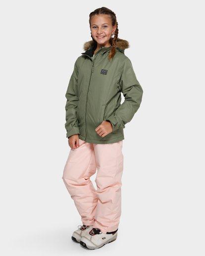 1 Teen Sula 2L 10K Jacket Green Q6JG01S Billabong