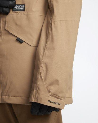 6 Delta - Snow Jacket for Men Brown Q6JM06BIF9 Billabong