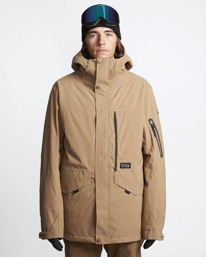 1 Delta - Snow Jacket for Men Brown Q6JM06BIF9 Billabong