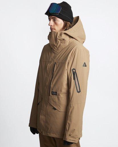 3 Delta - Snow Jacket for Men Brown Q6JM06BIF9 Billabong