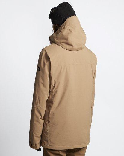 4 Delta - Snow Jacket for Men Brown Q6JM06BIF9 Billabong