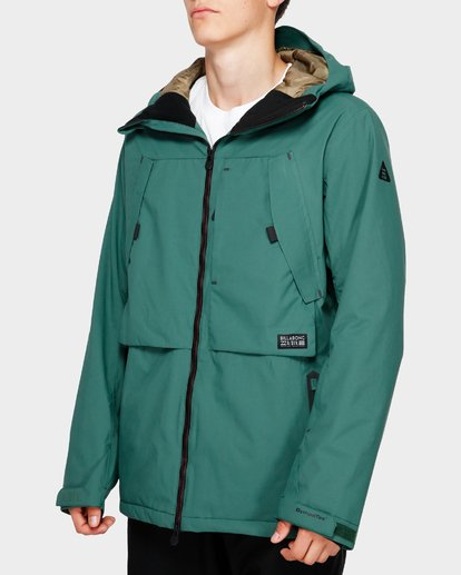 2 Prism Stx Insulated 45K Jacket Green Q6JM07S Billabong