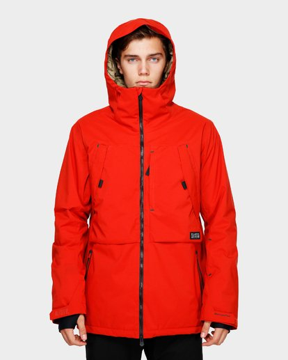 4 Prism Stx Insulated 45K Jacket Red Q6JM07S Billabong