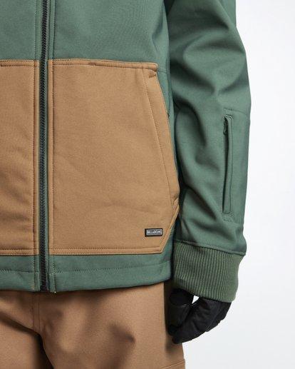 5 Downhill - Softshell Snow Jacket for Men Green Q6JM09BIF9 Billabong