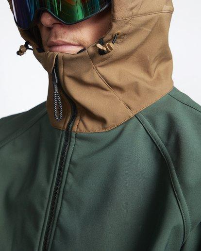 6 Downhill - Softshell Snow Jacket for Men Green Q6JM09BIF9 Billabong