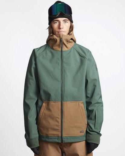 1 Downhill - Softshell Snow Jacket for Men Green Q6JM09BIF9 Billabong