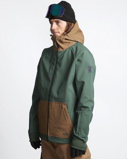 3 Downhill - Softshell Snow Jacket for Men Green Q6JM09BIF9 Billabong