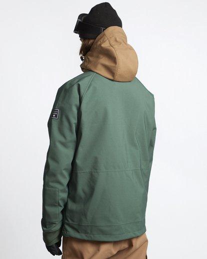 4 Downhill - Softshell Snow Jacket for Men Green Q6JM09BIF9 Billabong