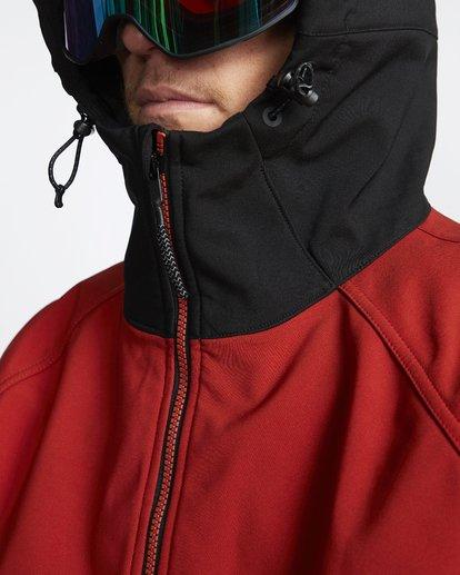 6 Downhill - Chaqueta Softshell para Nieve para Hombre Rojo Q6JM09BIF9 Billabong