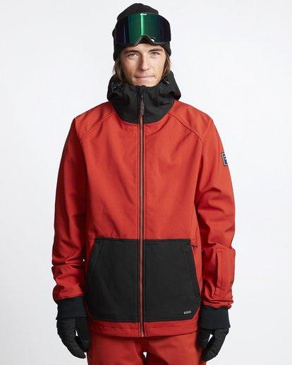 1 Downhill - Chaqueta Softshell para Nieve para Hombre Rojo Q6JM09BIF9 Billabong