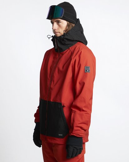 3 Downhill - Chaqueta Softshell para Nieve para Hombre Rojo Q6JM09BIF9 Billabong