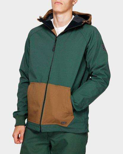 0 Downhill 3L 10K Jacket Green Q6JM09S Billabong
