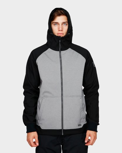 4 Downhill 3L 10K Jacket Grey Q6JM09S Billabong