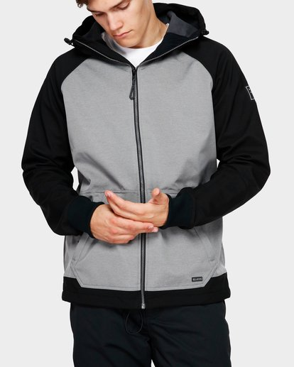 0 Downhill 3L 10K Jacket Grey Q6JM09S Billabong