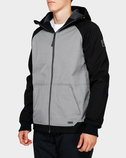 2 Downhill 3L 10K Jacket Grey Q6JM09S Billabong