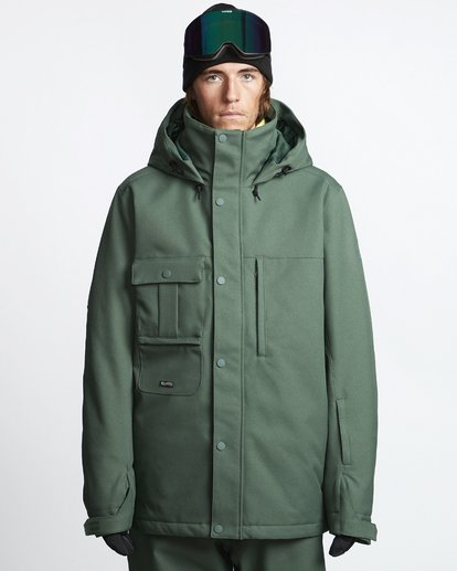 1 Shadow - Snow Jacket for Men Green Q6JM10BIF9 Billabong