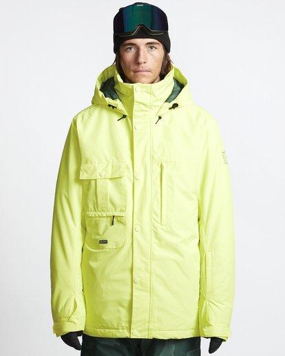 1 Shadow - Snow Jacket for Men Yellow Q6JM10BIF9 Billabong