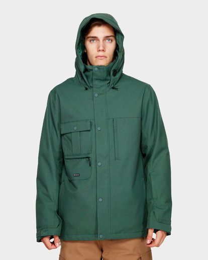 4 Shadow 2L 10K Jacket Green Q6JM10S Billabong