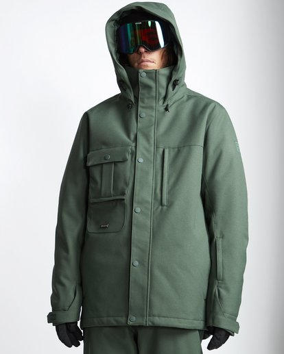 1 Shadow 2L 10K Jacket Green Q6JM10S Billabong