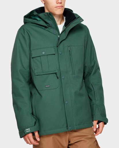 0 Shadow 2L 10K Jacket Green Q6JM10S Billabong