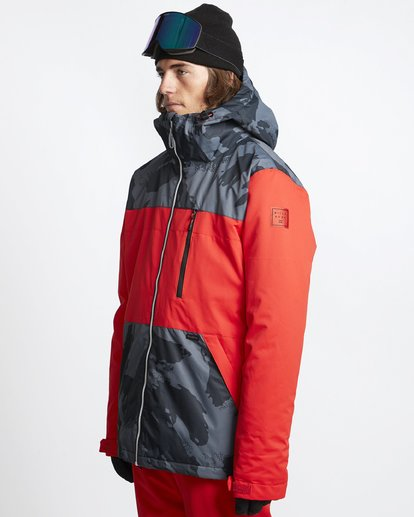 1 All Day 2L 10K Jacket Red Q6JM14X Billabong